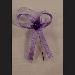 Svatební mašlička fialová