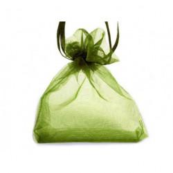 Organzový pytlík zelený č.6