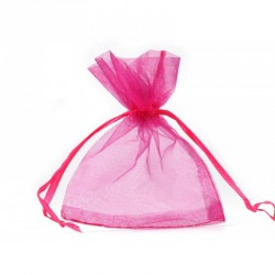 Organzový pytlík růžový č.3