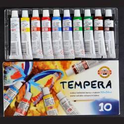 Temperové barvy Koh-i-noor, sada 10 barev