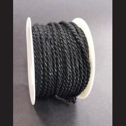 Kroucený provázek černý 4mm