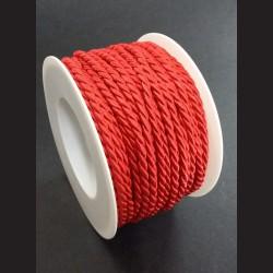 Kroucený provázek červený 4mm