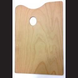 Dřevěná malířská paleta - obdélná velká