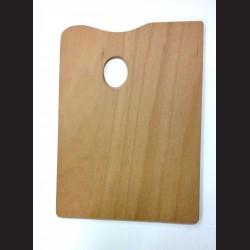 Dřevěná malířská paleta - obdélná malá