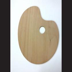 Dřevěná malířská paleta - oválná střední