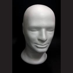 Polystyrenová hlava pánská