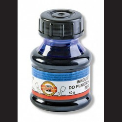 Modrý inkoust do plnících per, 50g