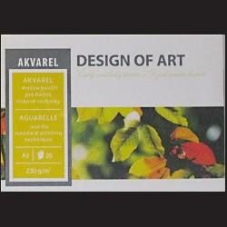 Blok Akvarel A4 - akvarel a tiskové techniky