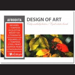 Blok Afrodita A2 - akvarel, tempera, ocelotisk