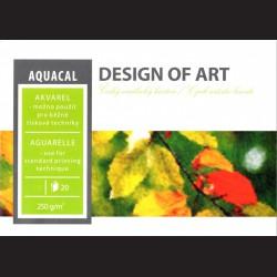 Blok Aquacal A2 - akvarel a tiskové techniky