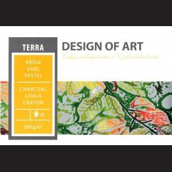 Blok Terra A2 - křída, uhel, pastel