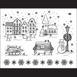 Silikonová razítka - zima vánoce