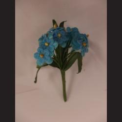 Modré květiny - svazek, tvarovatelné
