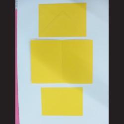 Obálka s přáním - žlutá, C6