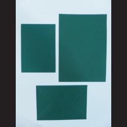 Obálka s přáním - tmavě zelená, C6