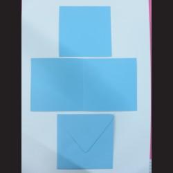 Obálka s přáním - čtverec modrá, C6