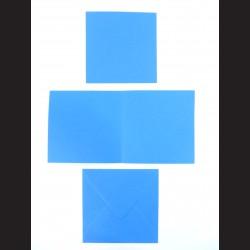 Obálka čtvercová s přáním a kartičkou - tmavě modrá