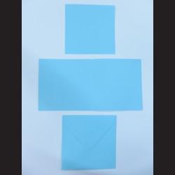 Obálka čtvercová s přáním a kartičkou - světle modrá