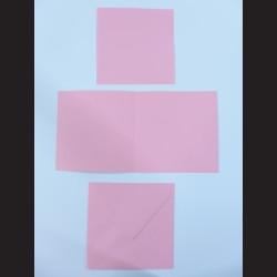 Obálka čtvercová s přáním a kartičkou - růžová