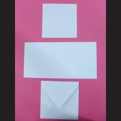 Obálka čtvercová s přáním a kartičkou - bílá