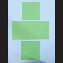 Obálka čtvercová s přáním a kartičkou - světle zelená