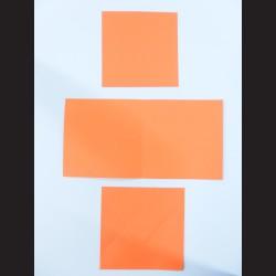 Obálka čtvercová s přáním a kartičkou - oranžová