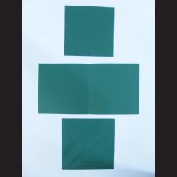 Obálka čtvercová s přáním a kartičkou - tmavě zelená