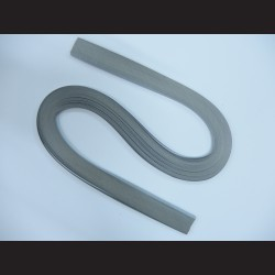 Papírové pásky - stříbrné, 3mm x 53 cm, 100 ks