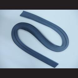 Papírové pásky - modrošedé, 3mm x 53 cm, 100 ks