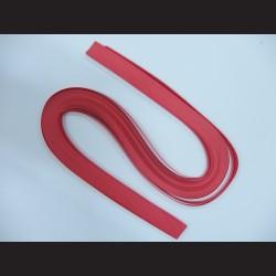 Papírové pásky - červené, 3mm x 53 cm, 100 ks