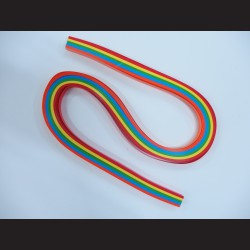 Papírové pásky - barevné duhové, 6mm x 53 cm, 100 ks