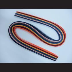 Papírové pásky - barevné tmavé, 3mm x 53 cm, 100 ks