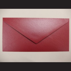 Obálka červená lesklá - 23 x 11cm, 10 ks