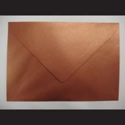 Obálka měděná lesklá - 12,5 x 17,5 cm, 10 ks