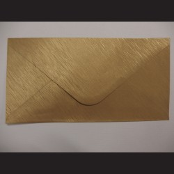 Obálka zlatá - 23 x 11cm, 10 ks