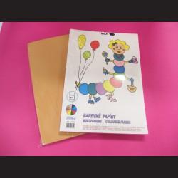 Sada barevných papírů A4 - žlutá, 100 ks