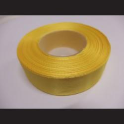 Stuha atlasová - žlutá, 25 mm