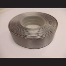 Stuha atlasová - tmavě šedá, 25 mm