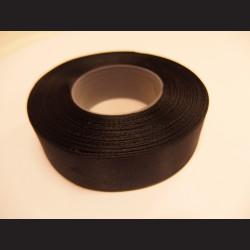 Stuha atlasová - černá, 25 mm