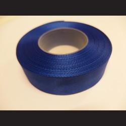 Stuha atlasová - tmavě modrá, 25 mm