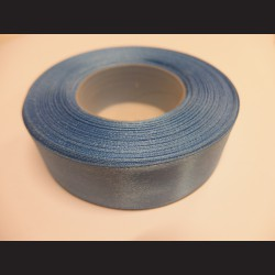 Stuha atlasová - modrá, 25 mm