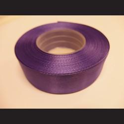 Stuha atlasová - fialová, 25 mm