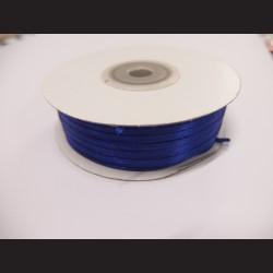 Stuha atlasová - tmavě fialová, 3 mm
