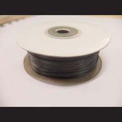 Stuha atlasová - tmavě šedá, 3 mm