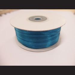 Stuha atlasová - modrá, 3 mm