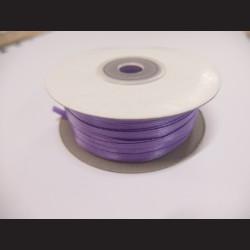 Stuha atlasová - fialová, 3 mm