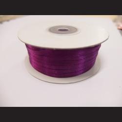 Stuha atlasová - tmavě fialová sytá, 3 mm