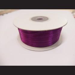 Stuha atlasová - sytě fialová, 3 mm