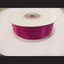 Stuha atlasová - sytě růžová, 3 mm