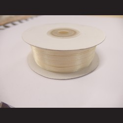 Stuha atlasová - vanilková, 3 mm